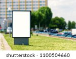 billboard  billboard  canvas... | Shutterstock . vector #1100504660