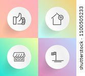 modern  simple vector icon set...   Shutterstock .eps vector #1100505233
