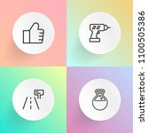 modern  simple vector icon set... | Shutterstock .eps vector #1100505386