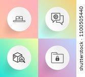 modern  simple vector icon set...