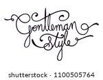 gentleman style letters....   Shutterstock .eps vector #1100505764