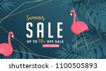 summer sale background layout... | Shutterstock .eps vector #1100505893