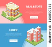 real estate in town horizontal... | Shutterstock .eps vector #1100507366