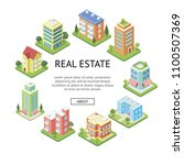 real estate company advertising.... | Shutterstock .eps vector #1100507369