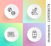 modern  simple vector icon set... | Shutterstock .eps vector #1100508176