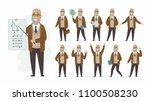 teacher   vector cartoon people ... | Shutterstock .eps vector #1100508230