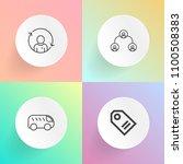 modern  simple vector icon set... | Shutterstock .eps vector #1100508383