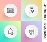 modern  simple vector icon set...   Shutterstock .eps vector #1100509334