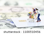 window shopping   ecommerce and ... | Shutterstock . vector #1100510456