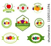 organic farming products vector ... | Shutterstock .eps vector #1100511596