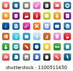 vector school education icons ... | Shutterstock .eps vector #1100511650