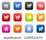 vector shopping cart icons set  ... | Shutterstock .eps vector #1100511674