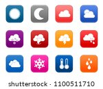 vector weather forecast icons ... | Shutterstock .eps vector #1100511710