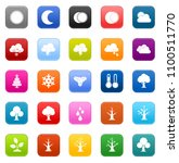 vector four seasons icons  ... | Shutterstock .eps vector #1100511770