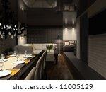 modern design interior of cafe. ... | Shutterstock . vector #11005129
