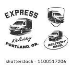 set of van delivery logo ... | Shutterstock .eps vector #1100517206