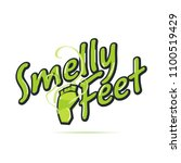 foot smell logotype concept  ... | Shutterstock .eps vector #1100519429