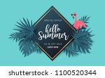 summer sale background layout... | Shutterstock .eps vector #1100520344