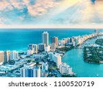 helicopter view of south beach  ... | Shutterstock . vector #1100520719