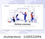 landing page template of online ... | Shutterstock .eps vector #1100522096
