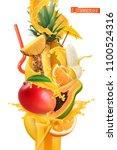 splash of juice and sweet... | Shutterstock .eps vector #1100524316