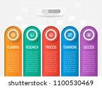 vector abstract 3d paper... | Shutterstock .eps vector #1100530469