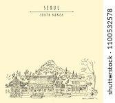 seoul  south korea  asia....   Shutterstock .eps vector #1100532578