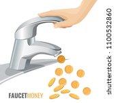 faucet money commercial banner...   Shutterstock .eps vector #1100532860