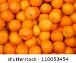 Bunch Of Fresh Mandarin Orange...