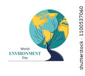 world environment day vector... | Shutterstock .eps vector #1100537060
