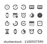 minimal set of time and clock... | Shutterstock .eps vector #1100537390