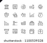 simple set finance line icons... | Shutterstock .eps vector #1100539328