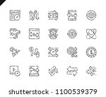 simple set traffic line icons... | Shutterstock .eps vector #1100539379