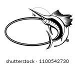 marlin fish logo.sword fish... | Shutterstock .eps vector #1100542730