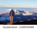beautiful sunrise scene  on ... | Shutterstock . vector #1100543480
