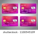 realistic detailed credit cards ... | Shutterstock .eps vector #1100545109