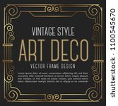 luxury vintage frame art deco... | Shutterstock .eps vector #1100545670