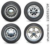 vector car tires with retro and ... | Shutterstock .eps vector #1100551739