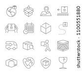 delivery. set of outline icons. ... | Shutterstock .eps vector #1100551880