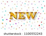 vector great of gold new... | Shutterstock .eps vector #1100552243