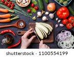 image on top of fresh... | Shutterstock . vector #1100554199