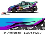 car livery graphic vector.... | Shutterstock .eps vector #1100554280