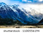 landscape of mount cook at... | Shutterstock . vector #1100556194