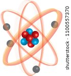 atom with positive and... | Shutterstock .eps vector #1100557370