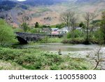 springtime view of the village...   Shutterstock . vector #1100558003