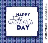 happy fathers day card with... | Shutterstock .eps vector #1100561213