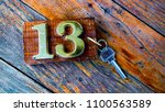 Stock photo a key of the number room 1100563589