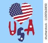 love usa  america. vintage... | Shutterstock .eps vector #1100563850