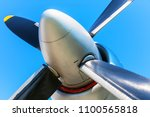 creative abstract aerospace... | Shutterstock . vector #1100565818
