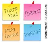 thank you notes  vector eps10... | Shutterstock .eps vector #110056628